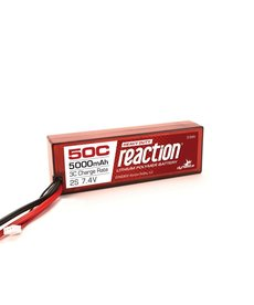 DYN Reaction HD 7.4V 5000mAh 2S 50C LiPo,Hardcase: EC5