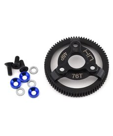 Hot Racing Steel 76T 48P Spur Gear Slash, Blue