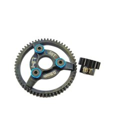 HRA STE258 Steel Pinion and Spur Gear Set (18t / 58t 32p )(Blue) - Traxxas