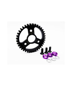Hot Racing Steel Spur Gear (38T 1.0 Mod)(Purple): Traxxas