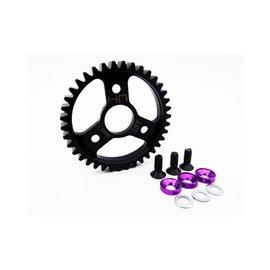 Hot Racing Steel Spur Gear (38T 1.0 Mod)(Purple): Traxxas