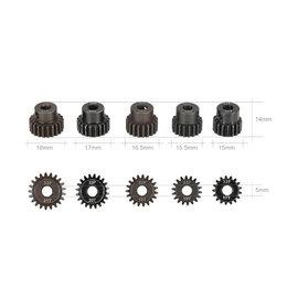 Goolrc GOOLRC 5Pcs 32P 5mm 17T 18T 19T 20T 21T Motor Pinion Gear Combo Set for 1/10 RC Car