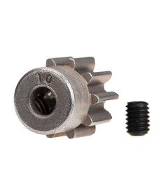 Traxxas Gear, 10-T pinion (32-p) (steel)/ set screw
