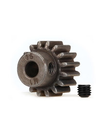 Traxxas 6489X  Gear, 16-T pinion (1.0 metric pitch) (fits 5mm shaft)/ set screw (for use only with steel spur gears)