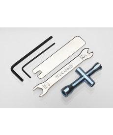 Traxxas Juego de herramientas 2748X (aletas de 1.5 mm y 2.5 mm / terminal de 4 vías, llave de 8 mm y 4 mm y llaves de unión en U)