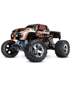 Traxxas 36054-1 -ORNG Stampede®: 1/10 Scale Monster Truck. Ready-to-Race® with TQ 2.4GHz radio system and XL-5 ESC (fwd/rev). Includes: 7-Cell NiMH 3000mAh Traxxas® battery