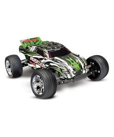 Traxxas 37054-4-Green Rustler®: Camión de estadio a escala 1/10. Ready-To-Race con sistema de radio TQ 2.4GHz y XL-5 ESC (adelante / atrás)