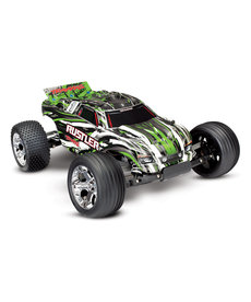 Traxxas 37054-4-GRN Rustler®: 1/10 Scale Stadium Truck. Ready-To-Race with TQ 2.4GHz radio system and XL-5 ESC (fwd/rev)