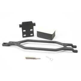 Traxxas 5827X Hold down, battery/ hold down retainer/ battery post/ foam spacer/ angled body clip (allows for installation of taller, multi-cell batteries)