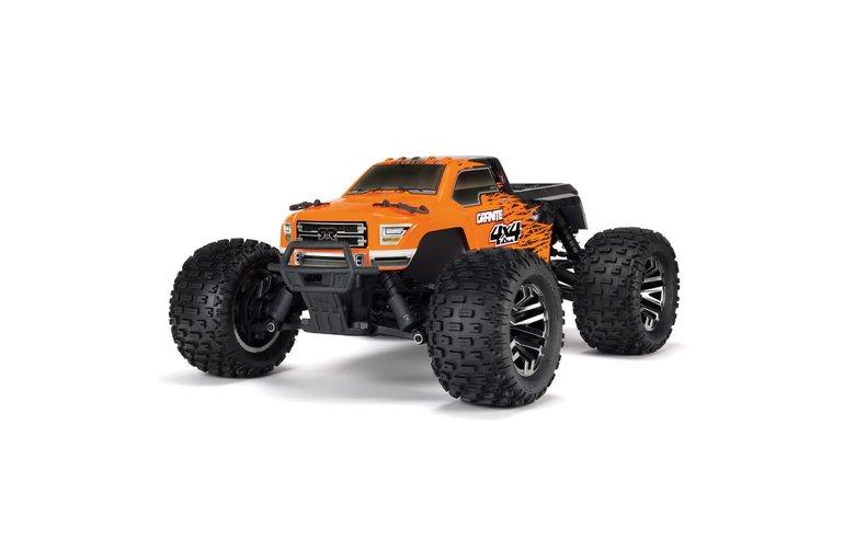 Arrma ARA102720T1 1/10 Granite 4X4 3S BLX 4WD MT (Orange/Black)
