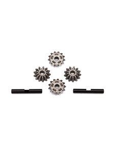 Traxxas 6783 Gear set, center differential (output gears (2)/ spider gears (4)/ spider gear shaft (2))