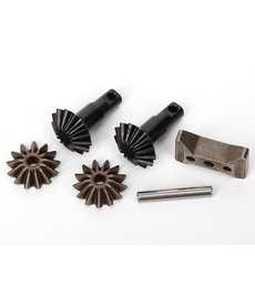 Traxxas 6882x  Gear set, differential (output gears (2)/ spider gears (2)/ spider gear shaft, carrier support)