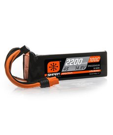 Spektrum 14.8V 2200mAh 4S 100C Smart LiPo Battery, IC3
