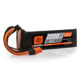 Spektrum 14.8V 2200mAh 4S 100C Smart LiPo Battery, IC3