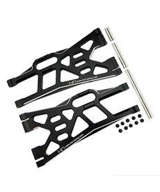 Hot Racing XMX55X01 Brazos inferiores listos para barra estabilizadora de aluminio: X-Maxx