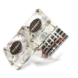 INT Super Motor Heatsink / Twin Fan, 540/550, Silver