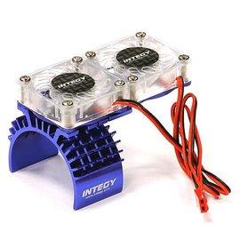 INT INTT8534BL Motor Heatsink/Twin Fan, Blue: Slash 4X4