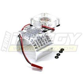 INT Motor Heatsink and Cooling Fan, Silver
