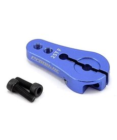 Protek RC PTK-7808 Bocina servo de sujeción corta de aluminio de 4 mm (azul) (25T)