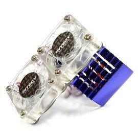 INT Super Motor Heatsink / Twin Fan, 540/550, Blue