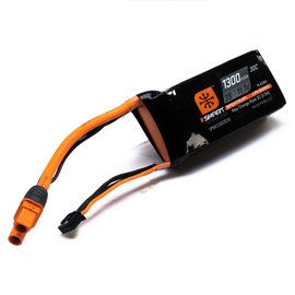 Spektrum 1300mah 3S 11.1V Smart LiPo Battery 30C; IC3