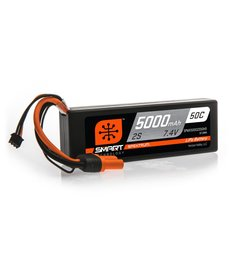 Spektrum 5000mAh 2S 7.4V 50C Smart LiPo Hardcase; IC5