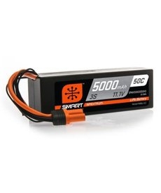 Spektrum 5000mAh 3S 11.1V 50C Smart LiPo Hardcase; IC3