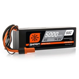 Spektrum 5000mAh 4S 14.8V 50C Smart LiPo Hardcase; IC5