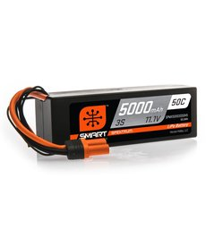 SPM 11.1V 5000mAh 3S 50C Smart LiPo Battery, Hardcase, IC5