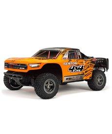 Arrma 1/10 SENTON 3S BLX 4WD Brushless Short Course Truck with Spektrum RTR, Orange/Black