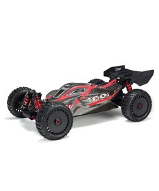 Arrma ARA106046 1/8 TYPHON 6S BLX 4WD Brushless Buggy with Spektrum RTR, Red/Grey