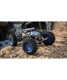 ECX 1/18 Rock Crawler Temper 4WD Gen 2 cepillado RTR, azul (ECX01015T2)