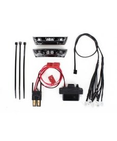 Traxxas LED light kit, 1/16 E-Revo (includes power supply, front & rear bumpers, light harness (4 clear, 4 red), wire ties)