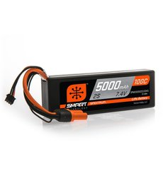 Spektrum 7.4V 5000mAh 2S 100C Smart LiPo, Hardcase IC3