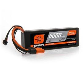 Spektrum 7.4V 5000mAh 2S 100C Smart LiPo, Hardcase IC3