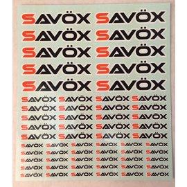 Savox Savox Logo Sticker Sheet 190 x 230 mm