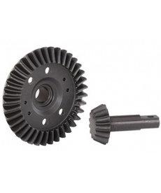 Traxxas Engranaje de anillo, diferencial / engranaje de piñón, diferencial (mecanizado, corte en espiral) (delantero)