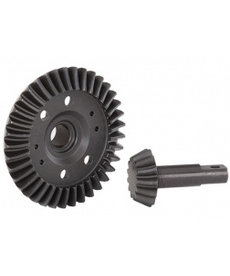 Traxxas Traxxas Ring gear, differential/ pinion gear, differential (machined, spiral cut) (fro