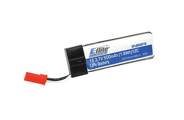 500mAh 1S 3.7V 25C LiPo Battery