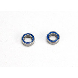 Traxxas Ball bearings, blue rubber sealed (4x7x2.5mm) (2)