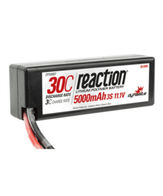 Dynamite Reaction 11.1V 5000mAh 3S 30C LiPo Hard Case Deans t plug