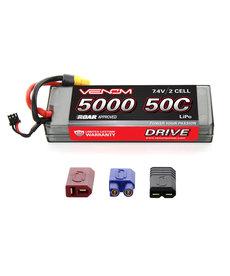 VNR DRIVE 50C 2S 5000mAh 7.4V LiPo HC ROAR :UNI 2.0
