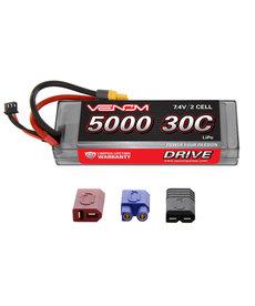 VNR VNR15149 DRIVE 30C 2S 5000mAh 7.4V LiPo Hardcase ROAR Battery with UNI 2.0 Plug