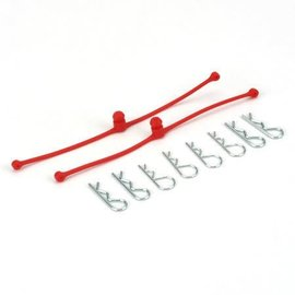 DUB DUB2248 Body Klip Retainers, Red (2)