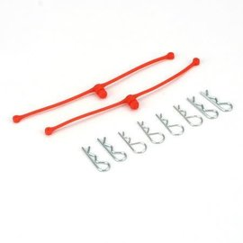 DUB Body Klip Retainers, Orange (2)