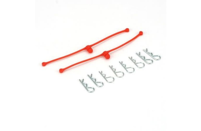 DUB Body Klip Retainers, Orange (2)