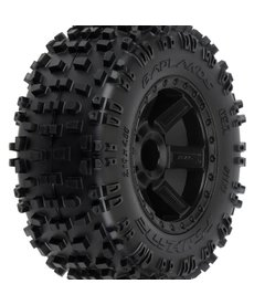 Proline Racing R Badlands 2.8 TRA Mnt Desperado Whl, Blk:NST,NRU 12mm Hex