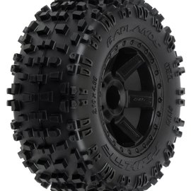 Proline Racing R Badlands 2.8 TRA Mnt Desperado Whl, Blk:NST,NRU 12mm Hex