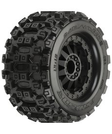 Proline Racing Badlands MX28 2.8, Mnt F-11 Blk Whl(2): R EST,EST