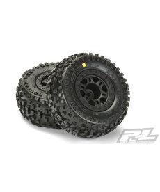 Proline Racing Pro-Line Badlands SC Tires w/Split Six Wheels (2) (Black) (Slash Front) (M2)